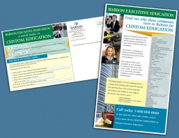 B2B Direct Mail Postcard for Babson Executive Education