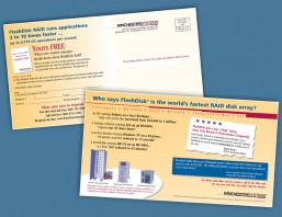 Winchester Systems postcard campaign