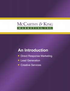 Introductory Brochure - McCarthy & King Marketing